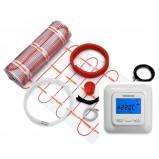 Zestaw mata grzejna 2,0 m² 340 W jednostronnie zasilana + programowalny regulator temperatury